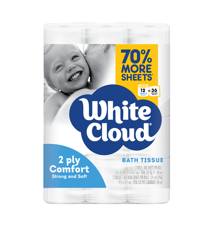 White Cloud - Mega Roll 2ply Ultra Strong & Soft