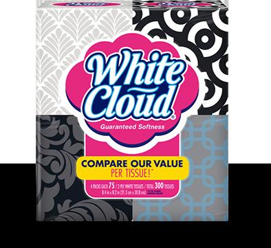 White Cloud Facial Tissue